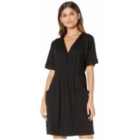 ケンジー kensie レディース ワンピース ワンピース・ドレス Drapy Knit Short Sleeve Dress KS9K8394 Black