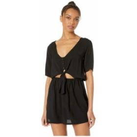 ハーレー レディース ワンピース トップス Woven Short Sleeve Tie Dress Black