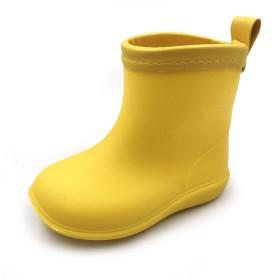 [アモジ] キッズ レインシューズ レインブーツ 雨靴 長靴 ベビー ガールズ ジュニア 女の子 男の子 ボーイズ 子供 幼児 イエロー 13cm