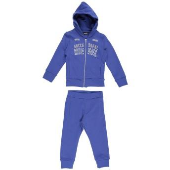 《9/20まで! 限定セール開催中》DIESEL ボーイズ 3-8 歳 スウェットスーツ ブルー 3 コットン 100%