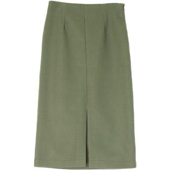 ユアーズ ur's フロントスリットタイトスカート (グリーン)