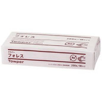 ペーパータオル タウパーフォレスM シングル 再生紙 1個(200枚入) トライフ
