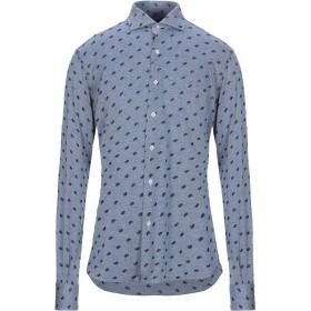 《セール開催中》ORIAN メンズ シャツ ブルー 38 コットン 100%