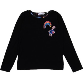 《期間限定セール開催中!》DOLCE & GABBANA ガールズ 3-8 歳 T シャツ ブラック 3 レーヨン 90% / ポリウレタン 10%