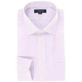 【TAKA-Q:トップス】形態安定抗菌防臭スリムフィット ワイドカラー長袖ビジネスドレスシャツ/ワイシャツ