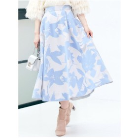 MERCURYDUO 【泉里香×MERCURYDUO】フロッキーフレアスカート(アイスブルー)