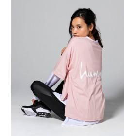 SHIFFON hummel(ヒュンメル) ロゴプリントビッグシルエットTシャツ レディース ピンク FREE 【SHIFFON】