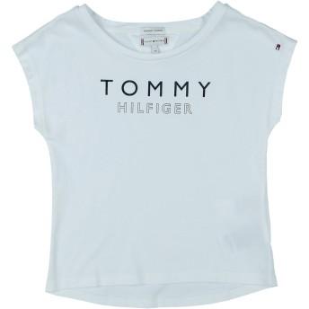 《期間限定 セール開催中》TOMMY HILFIGER ガールズ 3-8 歳 T シャツ ホワイト 3 コットン 100%