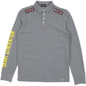 《期間限定 セール開催中》DIESEL ボーイズ 9-16 歳 ポロシャツ グレー 10 コットン 100%