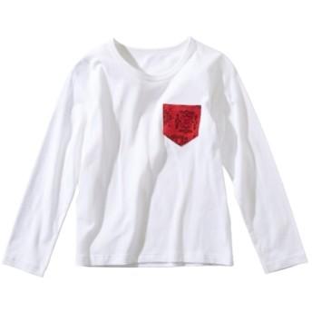 綿100%柄ポケット付Tシャツ(男の子。女の子 子供服。ジュニア服) Tシャツ・カットソー
