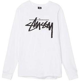 (ステューシー) STUSSY Stock BIG LOGO Tシャツ 長袖 メンズ [並行輸入品] (白, M)