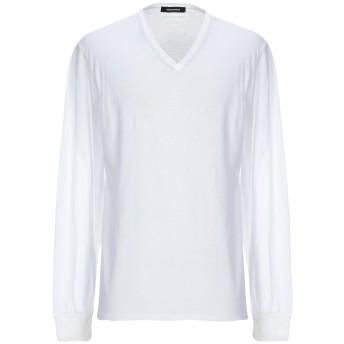 《セール開催中》DSQUARED2 メンズ T シャツ ホワイト XL コットン 70% / 麻 30%