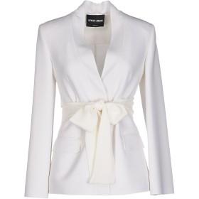 《セール開催中》GIORGIO ARMANI レディース テーラードジャケット ホワイト 38 バージンウール 96% / ポリウレタン 4%