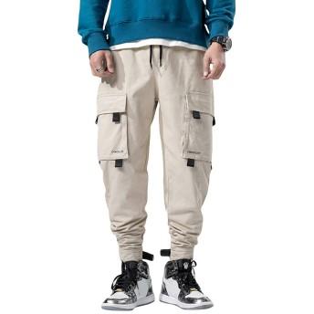 [FOMANSH]メンズ カーゴパンツ カジュアル ロング ボトムス 作業着 多機能 ズボン ワークパンツ 6ポケット