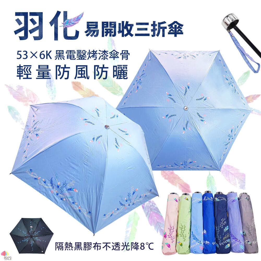 易開收三折傘 羽化 反向折傘
