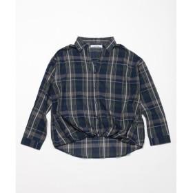 【フレームス レイカズン/frames RAY CASSIN】 ローンチェックタケノコタックシャツ