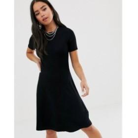 ノイズィーメイ Noisy May レディース ワンピース ワンピース・ドレス short sleeve knit dress Black