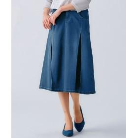 やわらくヨコすご伸びタックプリーツデザインミディ丈スカート(オトナスマイル) (大きいサイズレディース)スカート,plus size