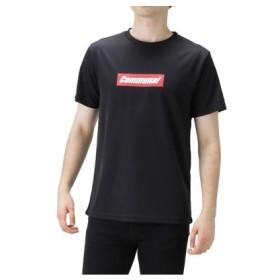 (MAC HOUSE/マックハウス)Real Standard ドライメッシュ プリントTシャツ 92-7236P-RJ/メンズ ブラック