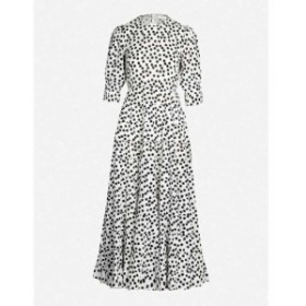 リキソ RIXO レディース ワンピース ワンピース・ドレス Agyness polka-dot cotton and silk-blend maxi dress Buttercup bunch floral