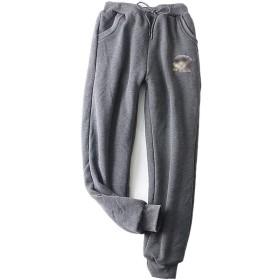 [Kayiyasu]スウェットパンツ レディース 裏起毛 ウエストゴム ロングパンツ ズボン 裾しぼり 018-qdfzc-032(XL グレー)