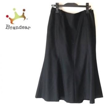 ニジュウサンク 23区 ロングスカート サイズ48 XL レディース 黒 新着 20190821