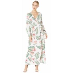 ロキシー レディース ワンピース トップス Taste Of Tomorrow Maxi Wrap Dress Marshmallow Tropical Love