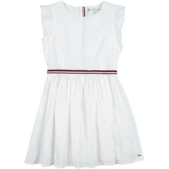 《期間限定 セール開催中》TOMMY HILFIGER ガールズ 3-8 歳 ワンピース&ドレス ホワイト 7 コットン 100% / ポリエステル