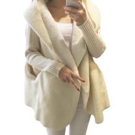 GodeyesW 女性ニットは、ドルマンスリーブパッチワークセーターコートコート 1 OS