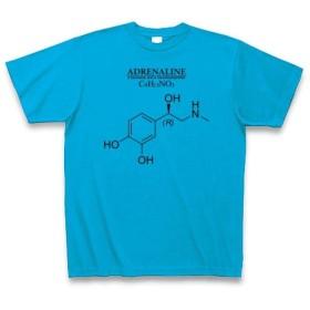 (クラブティー) ClubT アドレナリン(ノルアドレナリン・ドーパミンの仲間:神経伝達物質):化学構造・分子式シリーズ Tシャツ(ターコイズ) M ターコイズ