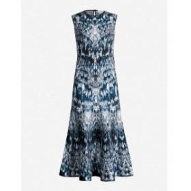 アレキサンダー マックイーン ALEXANDER MCQUEEN レディース パーティードレス ワンピース・ドレス Abstract-print stretch silk-blend d