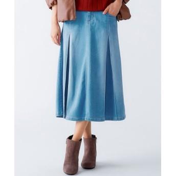 やわらくヨコすご伸びタックプリーツデザインミディ丈スカート(オトナスマイル) (大きいサイズレディース)スカート, plus size skirts