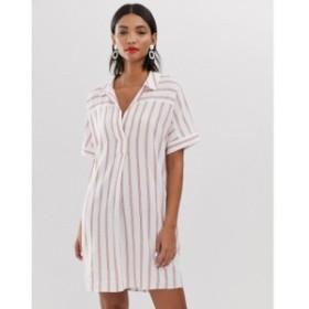ホイッスルズ Whistles レディース ワンピース ワンピース・ドレス Sabrina stripe mini shirt dress Red/multi