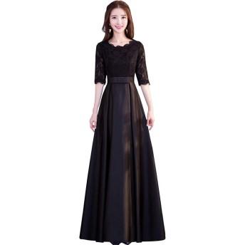 刺繍 ロングドレス レディース