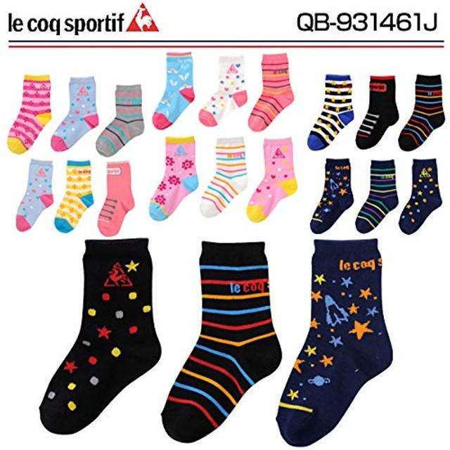 ルコック(le coq) 3P キッズ ENFANT ソックス QB-931461J BBB ブルー/ブラック 16-18cm