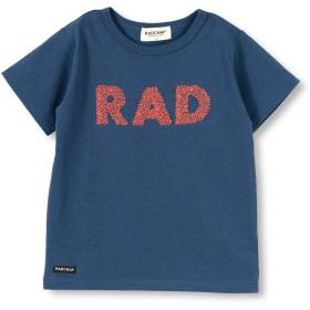 [ラッドチャップ] RAD刺繍 半袖 Tシャツ 100cm ネイビーブルー