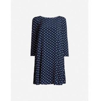 クローディ ピエルロ CLAUDIE PIERLOT レディース ワンピース ワンピース・ドレス Polka dot-print long-sleeved crepe dress Print