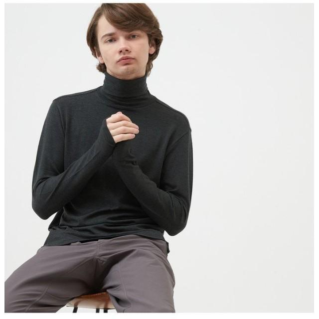 【30%OFF】 エーグル セルヒート タートル 長袖Tシャツ メンズ ブラック M 【AIGLE】 【セール開催中】