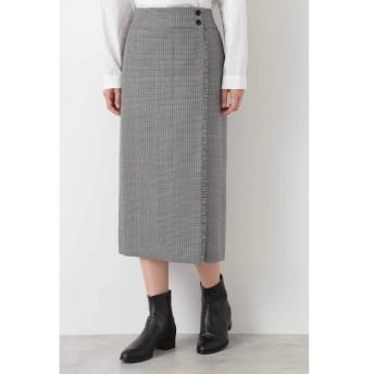 【ヒューマンウーマン/HUMAN WOMAN】 ◆ウールチェックグミ加工ストレートスカート