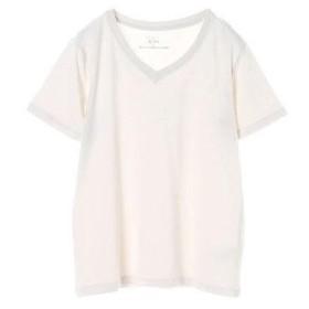 イーハイフンワールドギャラリー E hyphen world gallery VネックTシャツ (Light Gray)
