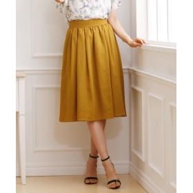 ふんわりシルエットがポイント♪ベルトタックギャザースカート (ひざ丈スカート)Skirts, 裙子