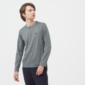 AIGLE メンズ メンズ 吸水速乾 THプロマロフト クルー 長袖Tシャツ ZTH050J ヘザーグレー (104) シャツ・ポロシャツ