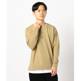 【27%OFF】 フレディアンドグロスター 12Gテンセラックレイヤードニット Tシャツ付 メンズ ベージュ S 【FREDY & GLOSTER】 【セール開催中】