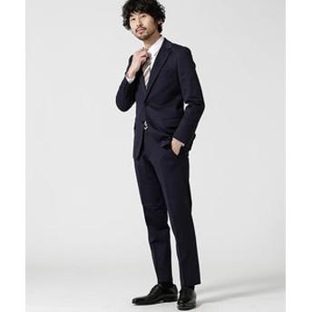 【nano・universe:スーツ・ネクタイ】スーツ+ジャージストレッチ+スタンダード+ネイビー