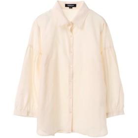 PAREA'TSU ボリューム袖シャツ 8分袖 シャツ・ブラウス,オフホワイト