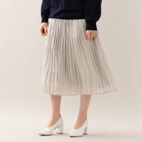 EPOCA THE SHOP(エポカザショップ)/【E_EPOCA THE SHOP】プラチナサテンプリーツ スカート