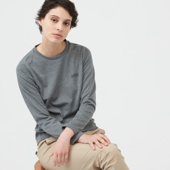 AIGLE レディース レディース 吸水速乾 THプロマロフト クルー 長袖Tシャツ ZTF050J ヘザーグレー (104) シャツ・ポロシャツ