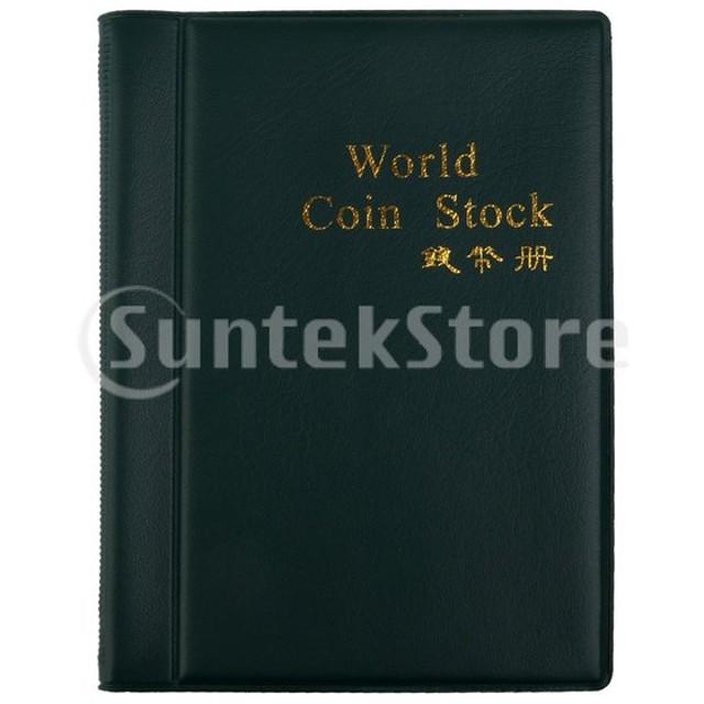 コインホルダー 記念コイン収納 人工皮革カバー ビジネスギフト 10ページ 約120ポケット 2個