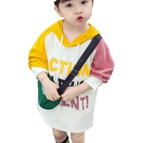 [もうほうきょう] キッズ パーカー ガールズ キッズ服 トップスガールズ ロングトップス 子供上着 レジャー 写真色100cm
