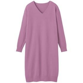 50%OFF【レディース】 衿ぐりデザインが選べるニットワンピース - セシール ■カラー:アンティックローズ ■サイズ:3L-ハイネック,S-ハイネック,M-ハイネック,L-ハイネック,LL-ハイネック